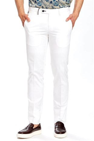 Ecer White Pantolon